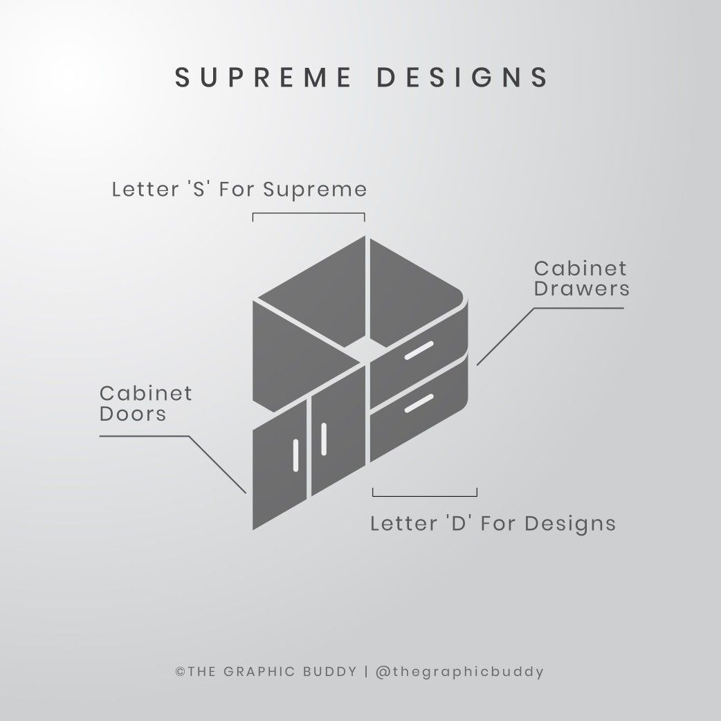 Logo Design For A Kitchen Cabinet Company Name Is Supreme Designs For More Of Such Desi Logo Design Inspiration Branding Logo Design Logo Design Inspiration