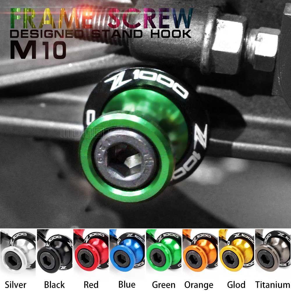 Green Stands Screws Swingarm Spool Slider For Kawasaki Z1000 Z1000sx Z1000abs Z 1000 Sx Abs Motorcycle
