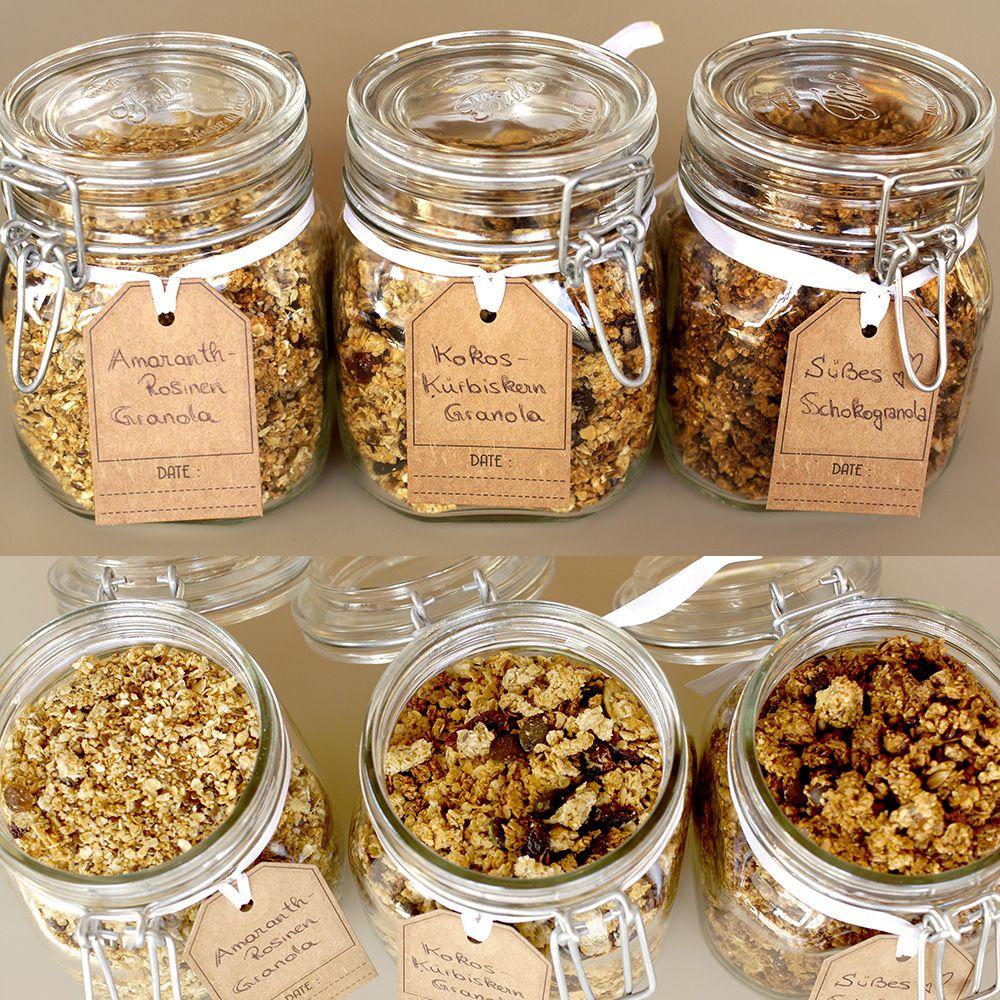 knuspriges granola selber machen zum fr hst ck oder als dessert genie en granola low carb. Black Bedroom Furniture Sets. Home Design Ideas