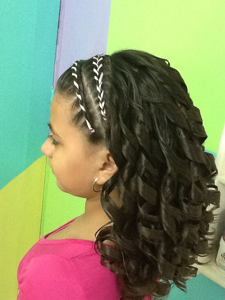Trenza Con Liston Y Chinos Peinados De Ni 241 A Pinterest