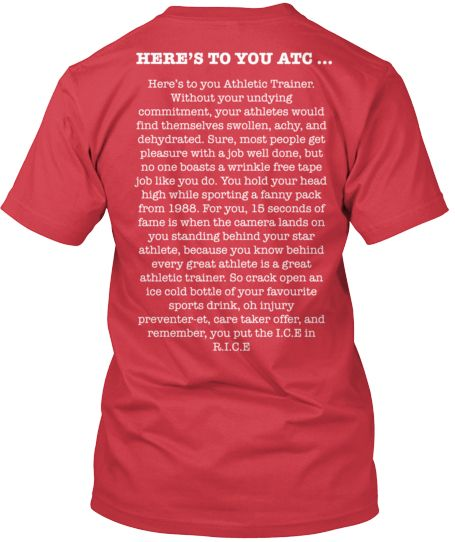 Here's to you Athletic Trainer - Limited