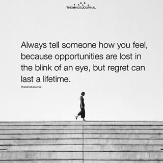 Regret can last lifetime #quotesabouttakingchances
