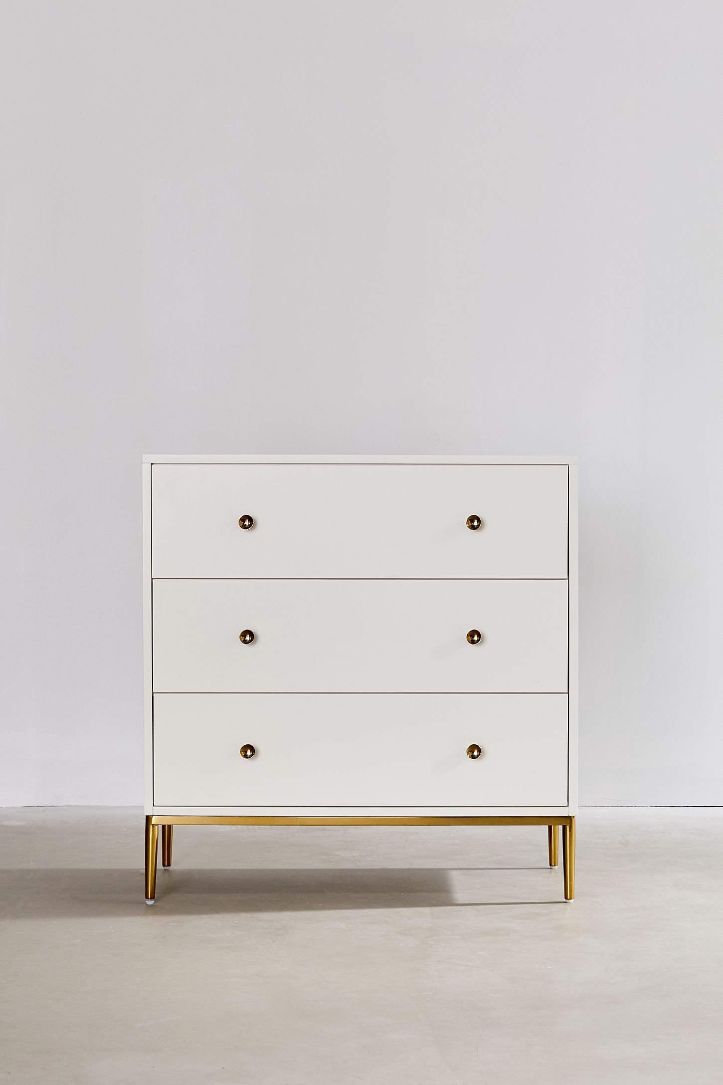 Urban Outfitters Cleo 3 Drawer Dresser In 2020 Cheap Bedroom