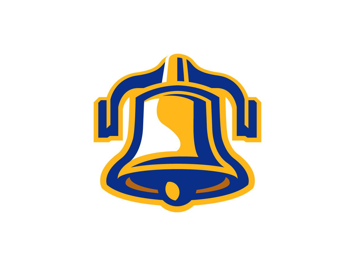 liberty bell logo yellow and blue logo design pinterest logos rh pinterest co uk
