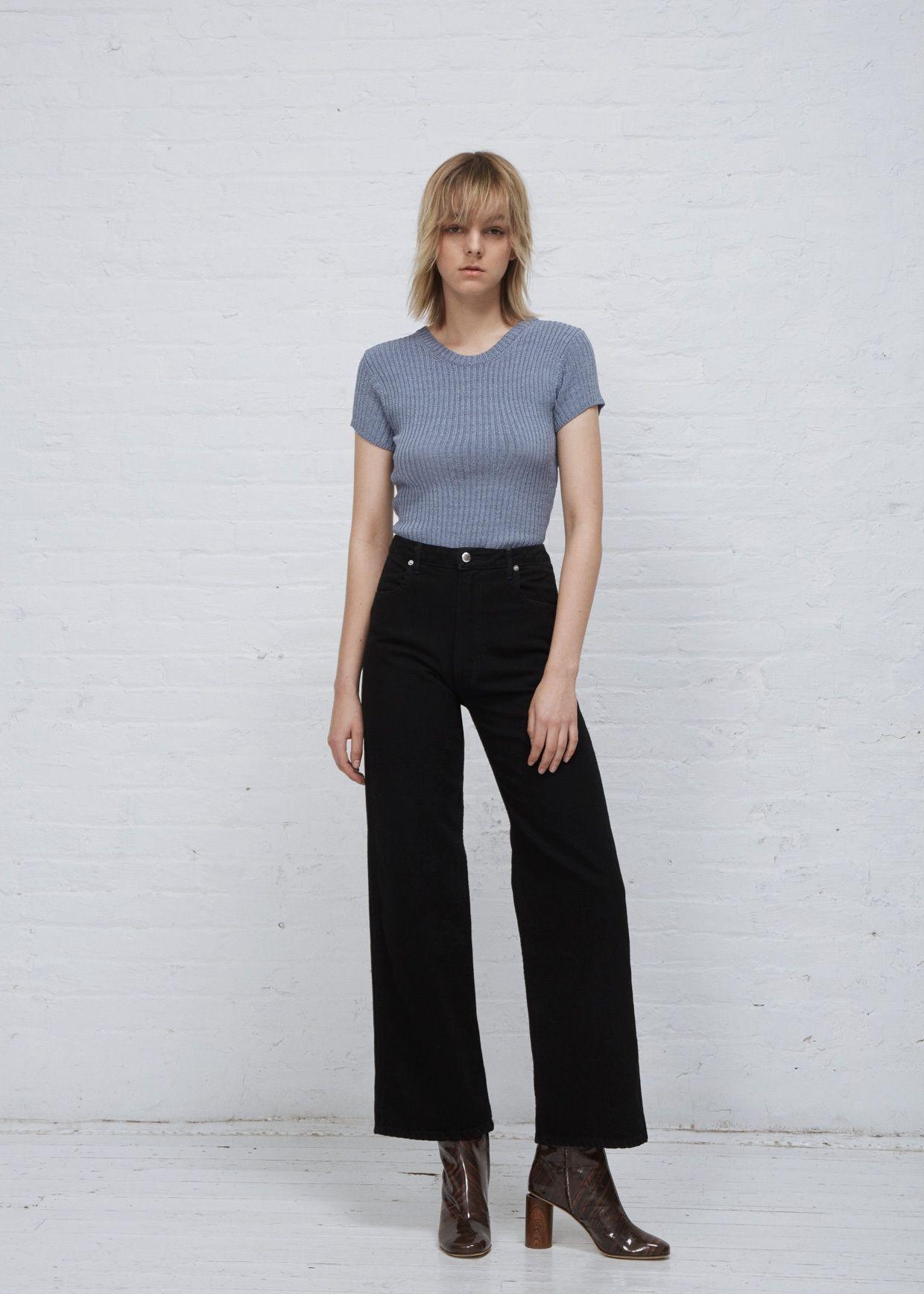 Eckhaus Latta Wide Leg El Jean (Almost Black)