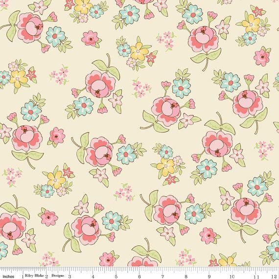 Vintage Baby Vintage Floral Cream By Lori By Lilyrosequilts 7 99 Fleurs Craft Embellissements