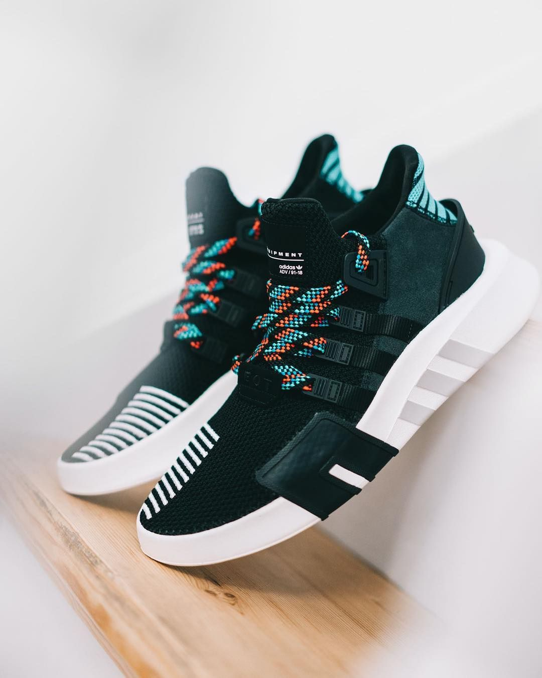 3a302be4171b Adidas EQT Bask ADV Core Black   Sub Green