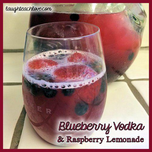 blueberry infused vodka & raspberry lemonade