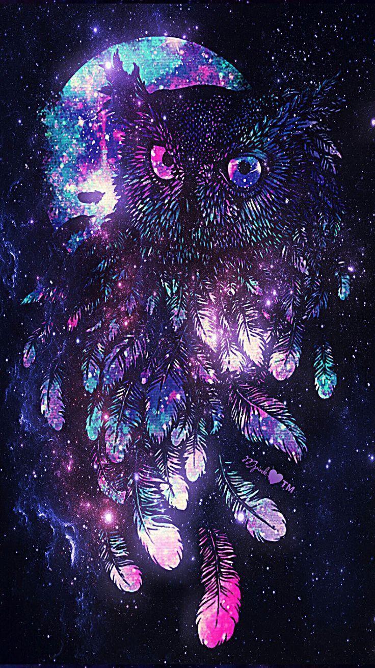 Owl Galaxy Wallpaper #androidwallpaper #iphonewallpaper #wallpaper #galaxy #spar #androidwallpaper #...