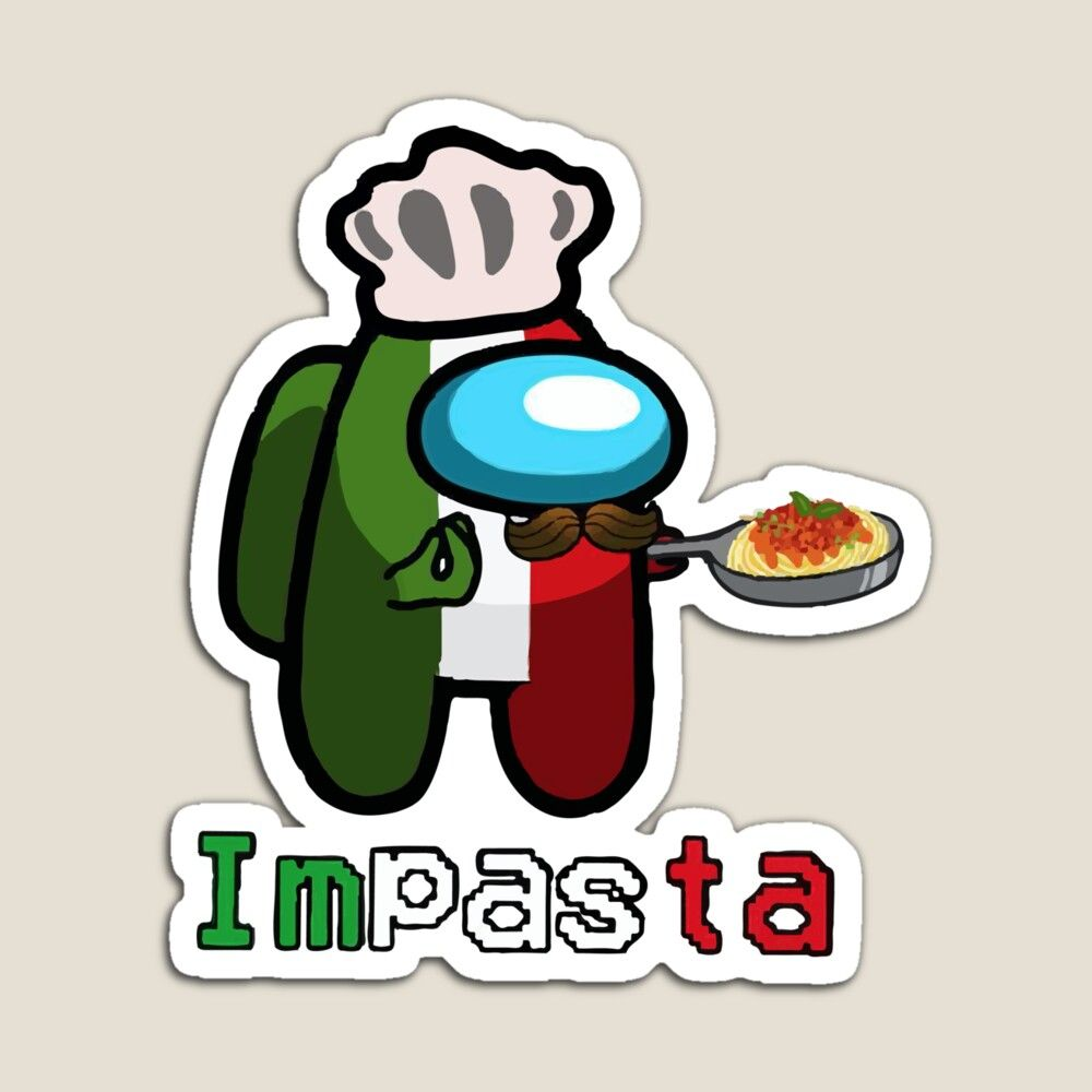 Among Us Crewmate Impasta Halloween Italian Costume Among Us Game Magnet By Nostylistxd In 2021 Funny Phone Wallpaper Funny Memes Cute Patterns Wallpaper
