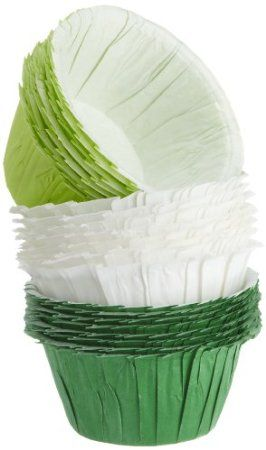 Amazon.com: Wilton Assorted Green Ruffled Baking Cups, 24 Count: Kitchen & Dining