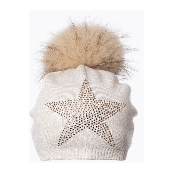 dfd2c08fd73 Star Embellished Oatmeal Pom Pom Hat ( 53) ❤ liked on Polyvore featuring  accessories