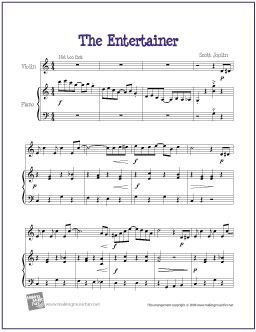 The Entertainer Joplin With Images Sheet Music Viola Sheet