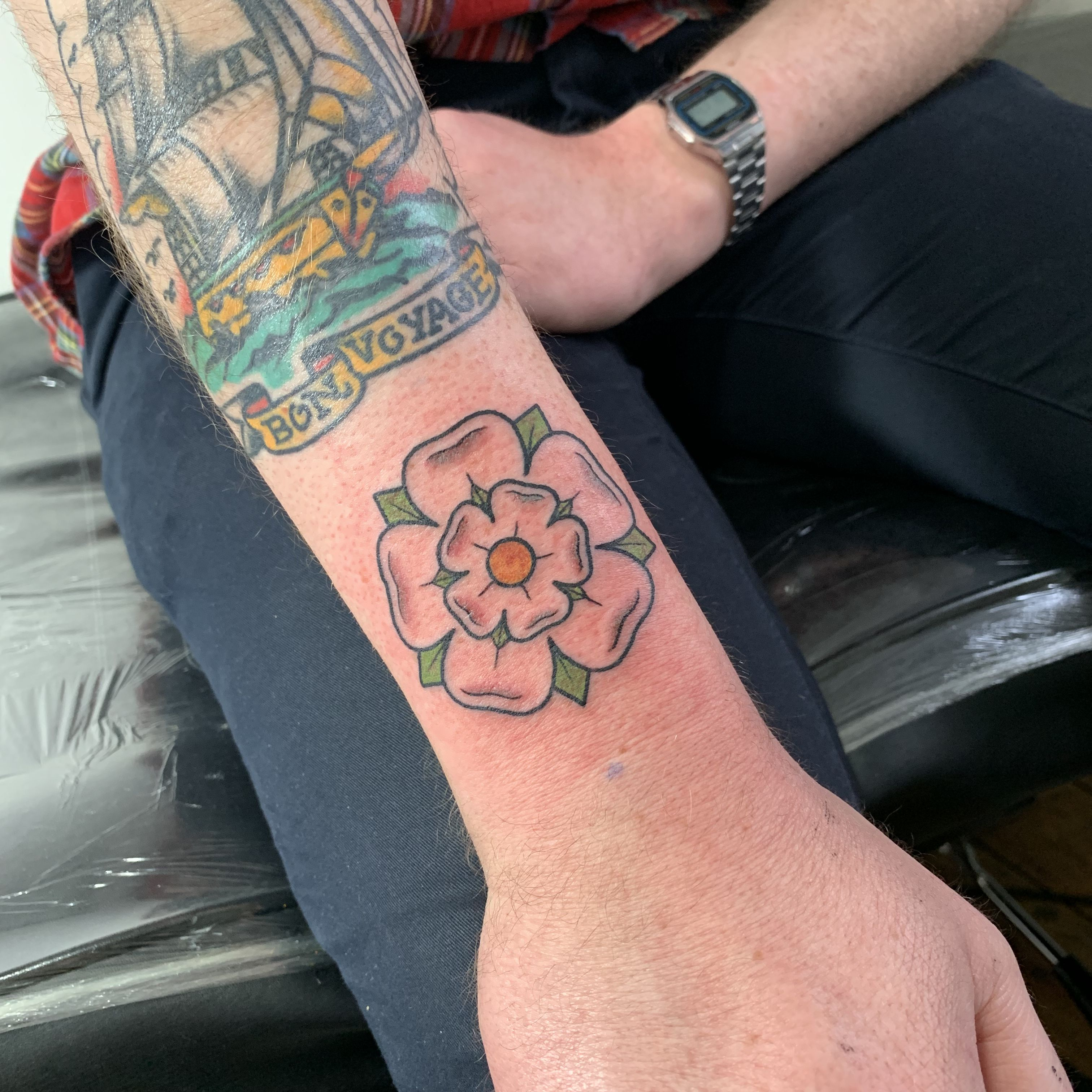 Traditional Yorkshire Rose Tattoo Rose Rose Tattoos For Men Yorkshire Rose Tattoos