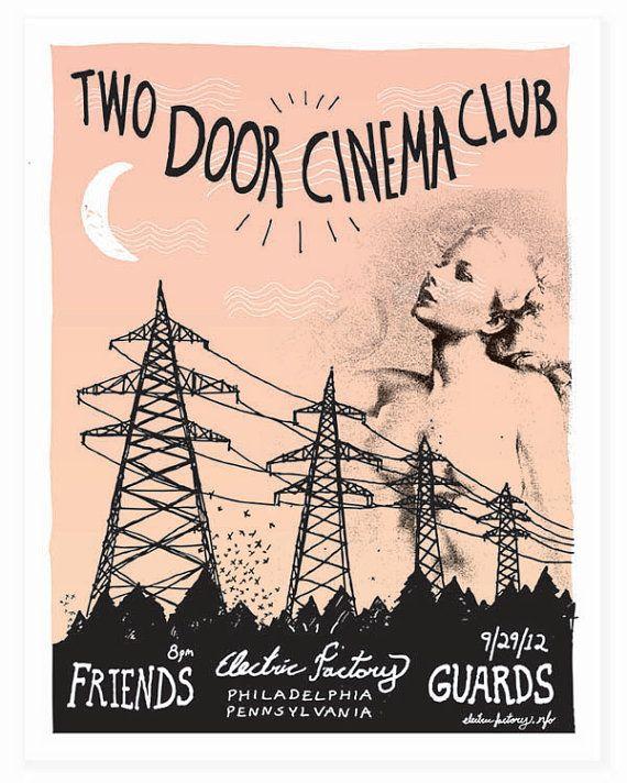 Two Door Cinema Club Poster Two Door Cinema Club Club Poster Music Poster Design