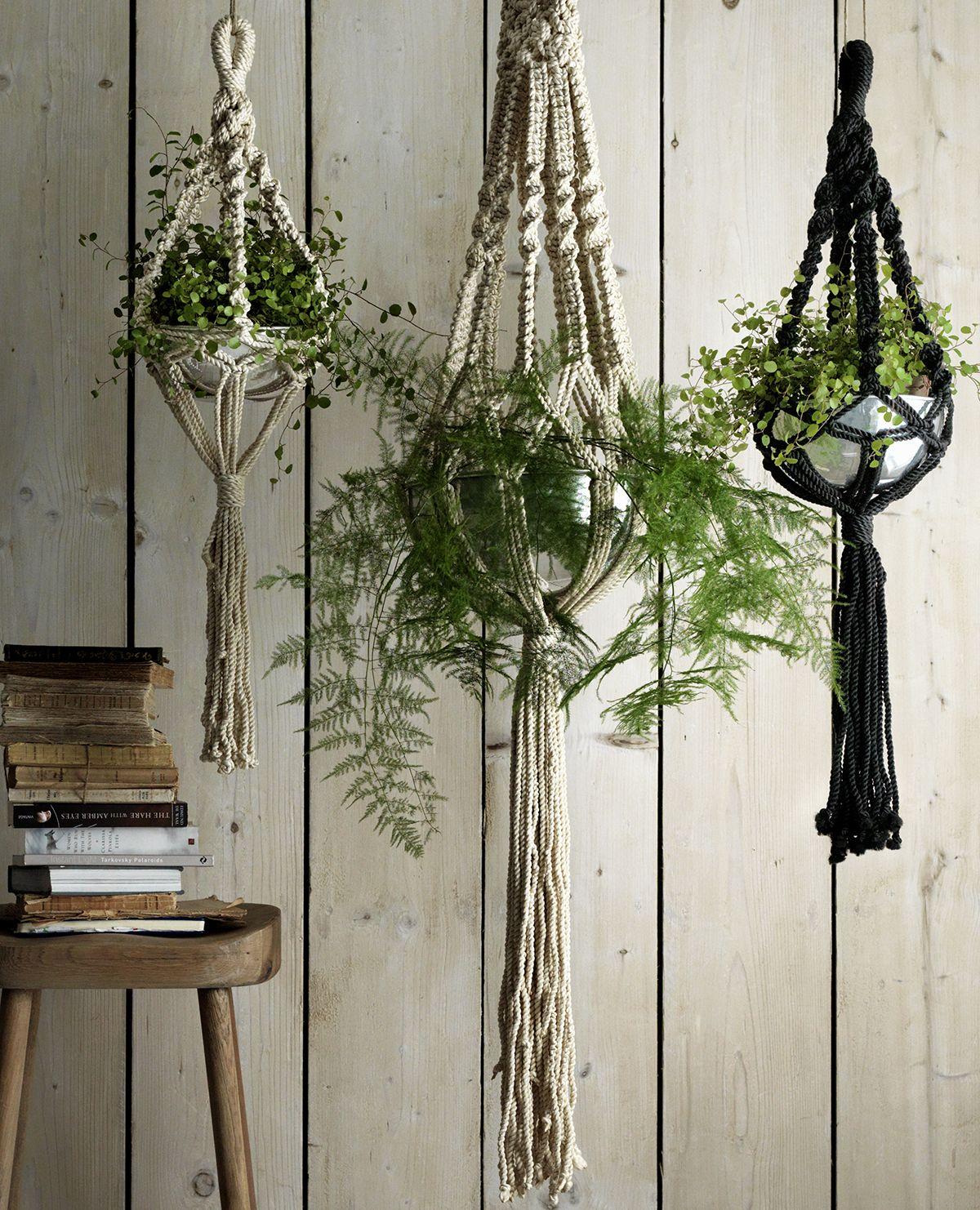 black macrame plant hanger - Google Search | Trade fair ...