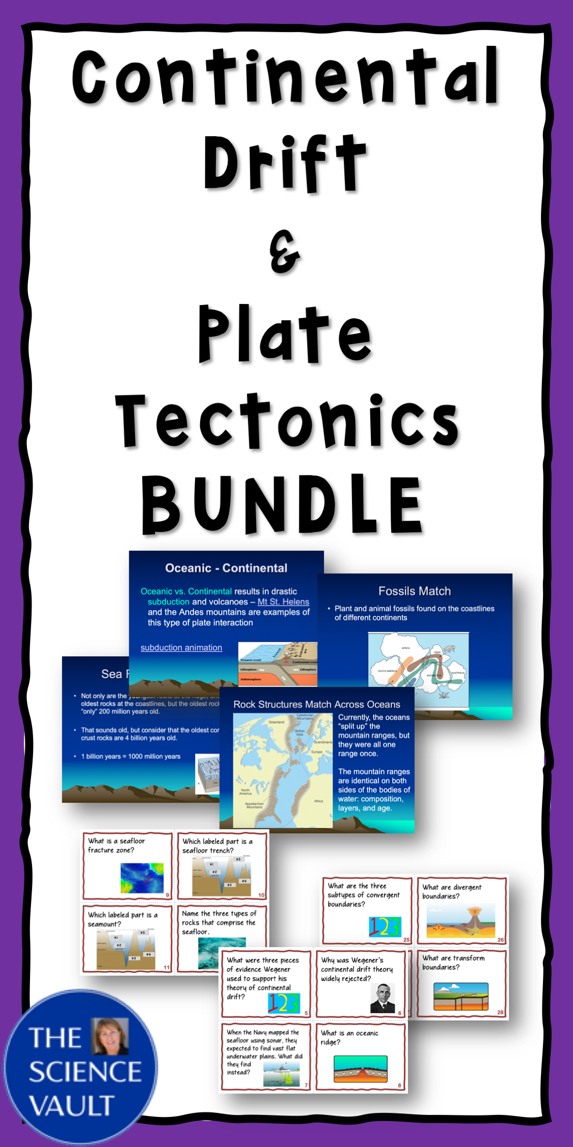 Continental Drift Amp Plate Tectonics Notes And Task Card
