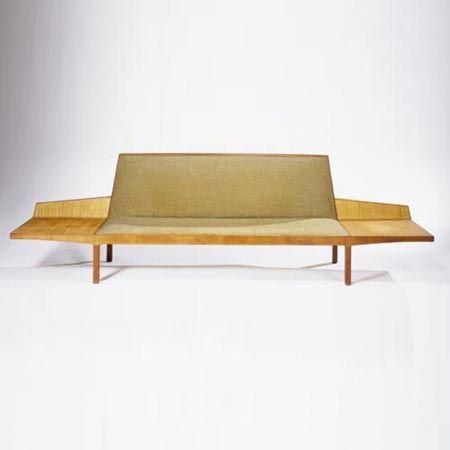 paul tuttle walnut and cane sofa for stanley reifel 1960s furniture we love pinterest. Black Bedroom Furniture Sets. Home Design Ideas