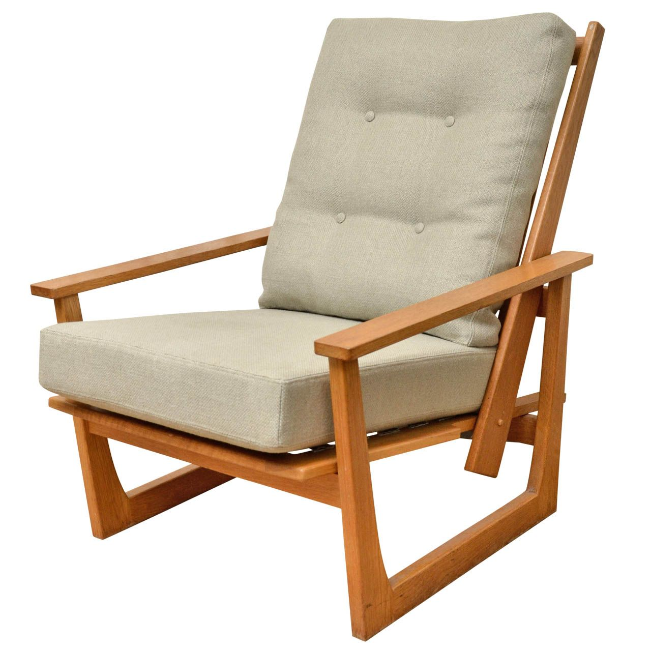 Delicieux Reclining Wooden Lounge Chair