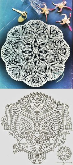 Pineapple Lace Doily Crochet Pattern | Crocheting | Pinterest ...