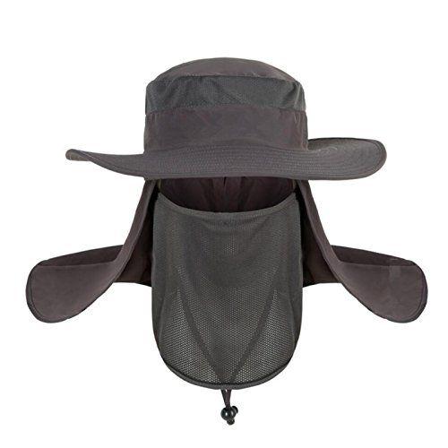 4eb69770a69 SHARK ARMY Summer Outdoor 360° UV Solar Sun Protection Fishing Farmer  Gardener Visor Cap for