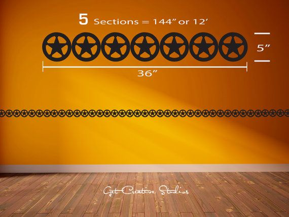 Cowboy Decal Stars Wall Decal Sheriff Badge Border Western Decor ...
