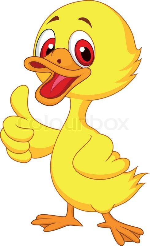 Vector Illustration Of Cute Baby Duck Cartoon Thumb Up Vector Colourbox Duck Cartoon Baby Cartoon Baby Ducks