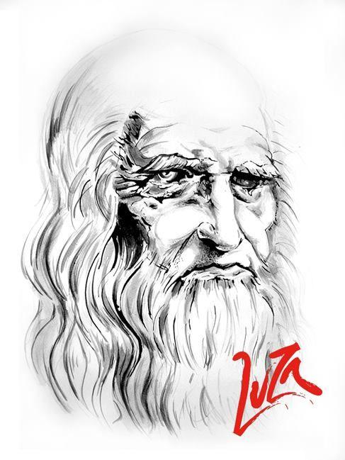 Da Vinci 60x40cm Tinta china