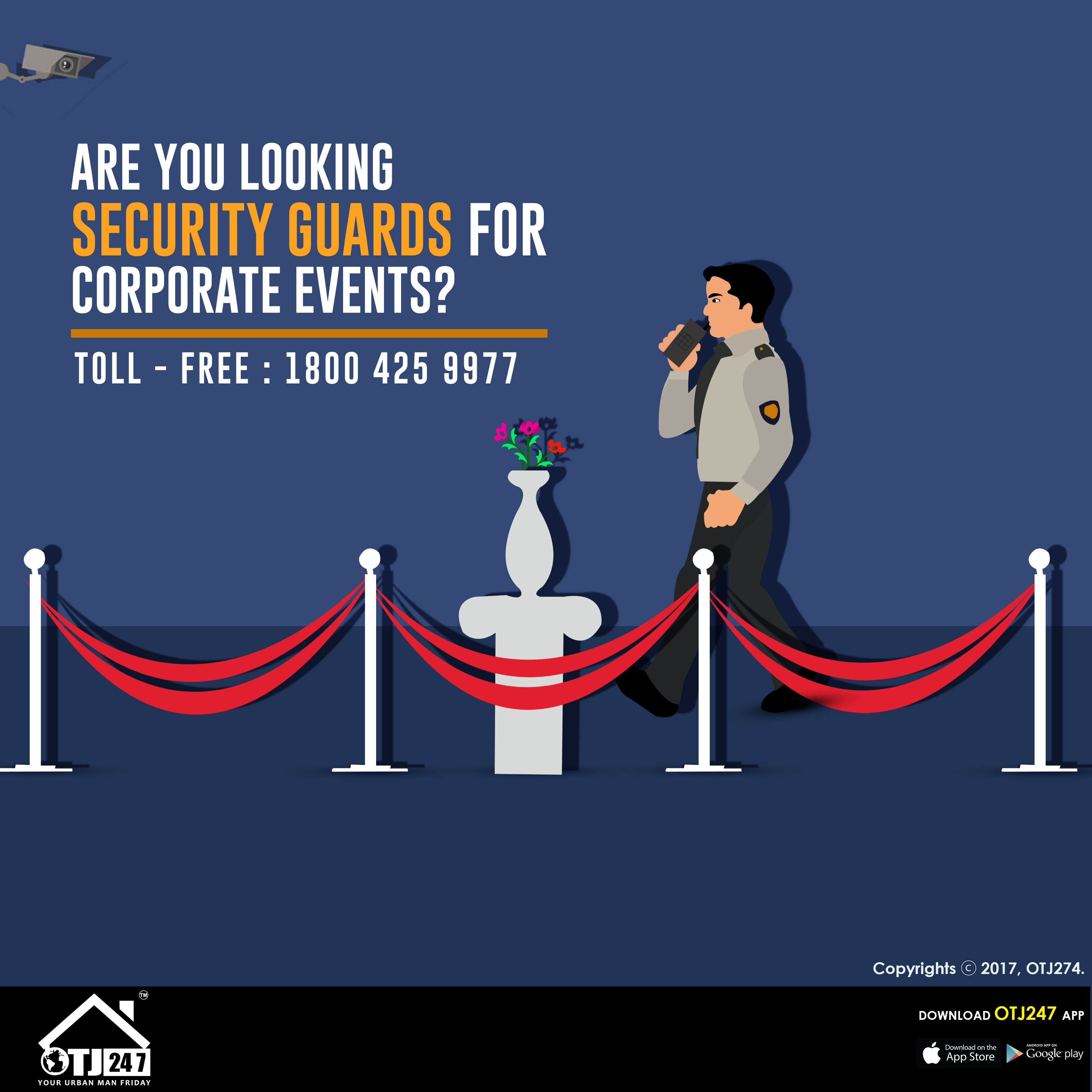 Are You Looking Security Guards For Corporate Events? Book