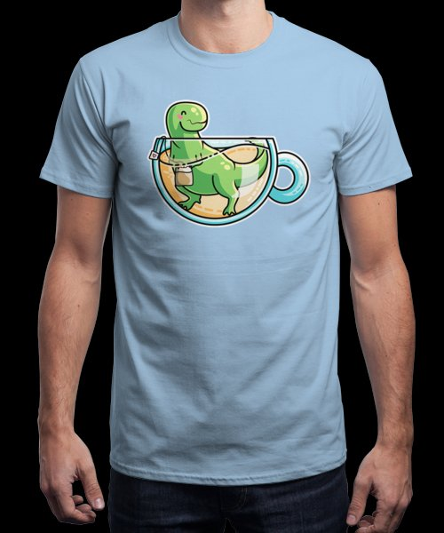 """""""Tea-Rex"""" is today's £9/€11/$12 tee for 24 hours only on Pin this for a…   Qwertee thumbnail"""