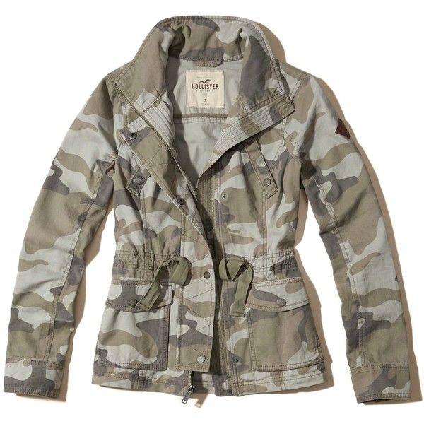 hollister camo jacket