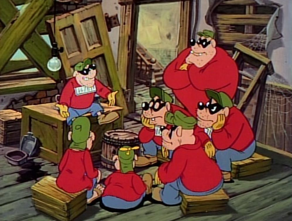 The Seven Main Beagle Boys From Ducktales Big Time Bankjob