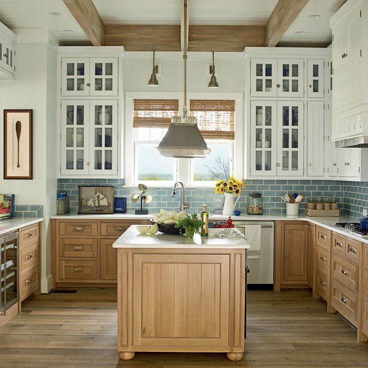 10 Most Popular Kitchens - Beach house kitchens, Coastal kitchen design, Kitchen trends, Beautiful kitchens, Kitchen renovation, Home kitchens - It's the heart of the home, and an especially sacred place in a beach house, where menus are planned, cocktails are blended, and memories are made  See the Coastal Living kitchens that have been pinned thousands of times on Pinterest, inspiring home decor fans with their seaside style