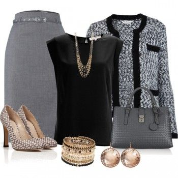 Work Outfits with Lori's Shoes Layered Disc Necklace