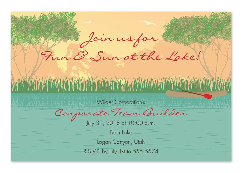 Lake Themed Wedding Invitations: River-water-inspired-theme