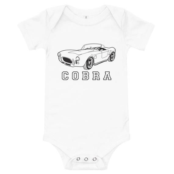 Ford Shelby Cobra Classic Car – Baby Bodysuit, Toddler T-Shirt, Baby Shower, Baby Boy, Baby Girl, Custom Shirts, Kids Tee