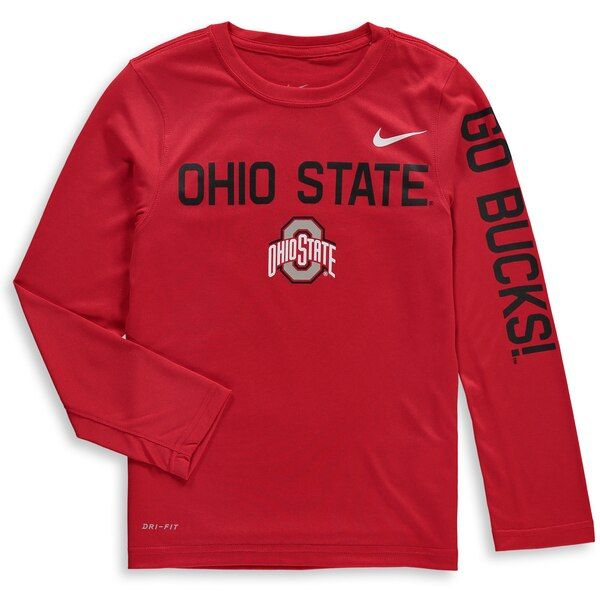 Ohio State Buckeyes Nike Youth Legend Long Sleeve Performance T-Shirt  Scarlet #OhioStateBuckeyes #ohiostatebuckeyes
