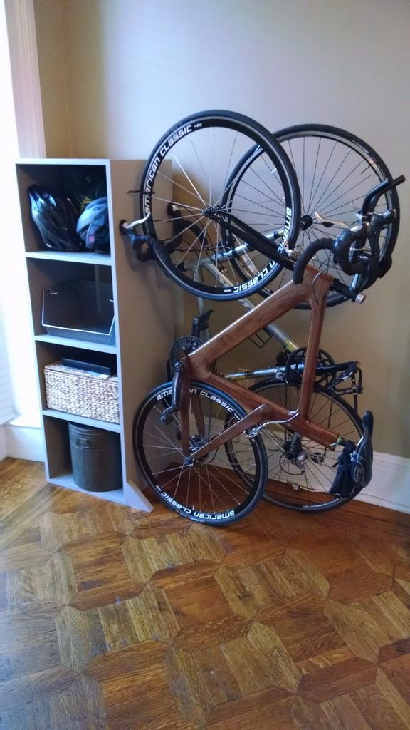 Freestanding Bike Rack Bookcase 7 Steps With Pictures