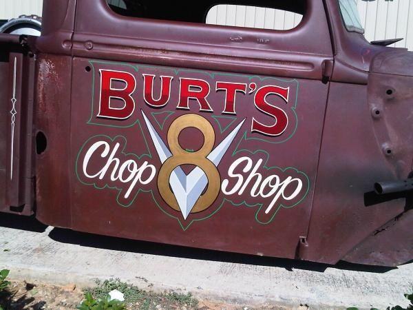 Rat Rods Old Truck Door Art Hotrod Burt S Chop Ratrod Door
