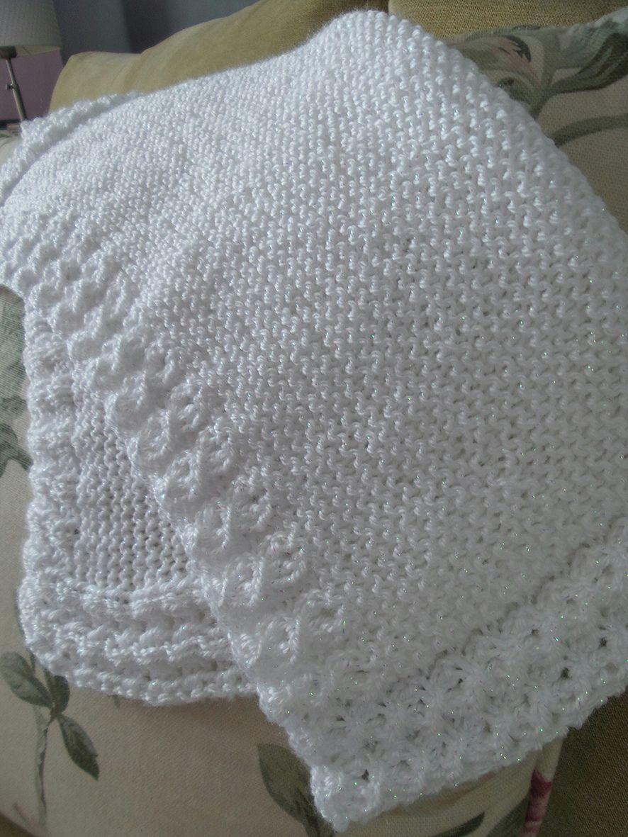 Ravelry: Eyelet-lace baby blanket by Linda McCreadie ...