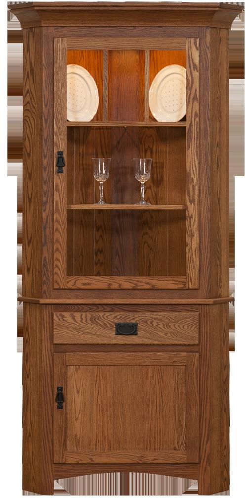 Missio Hutchesoakcherryamish Furnitureusasolid Corner HutchCorner CabinetsHardwood