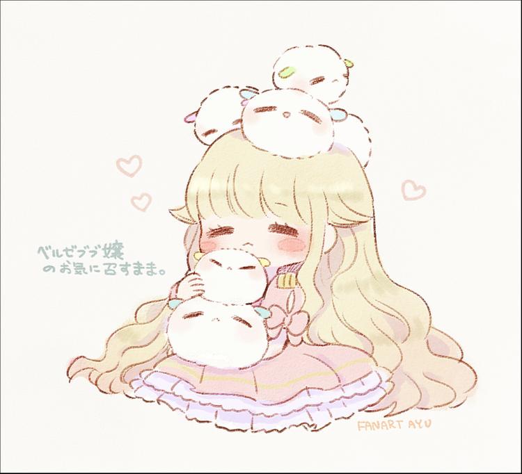 pink cute anime art illustration girl chibi