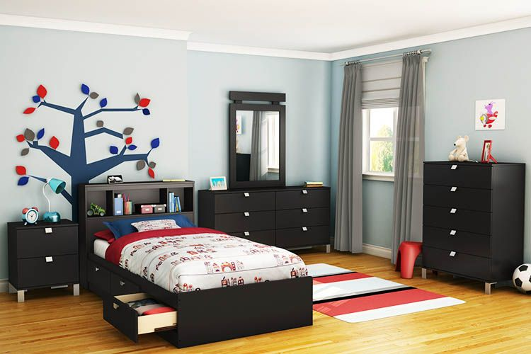 Modern Boys Bedroom Set With Desk Lanzhome Com In 2020 Boys Bedroom Sets Toddler Bedroom Sets Bedroom Furniture Sets
