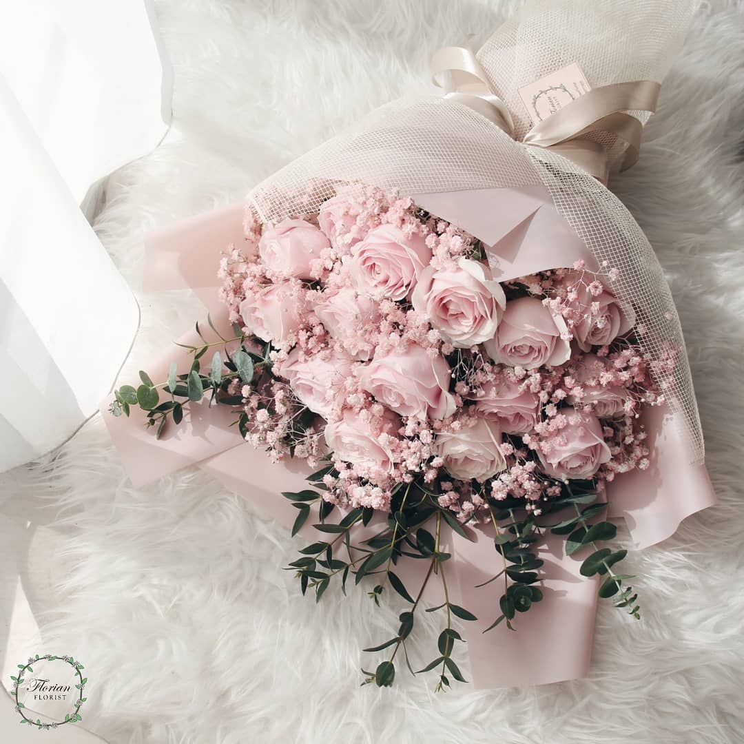 "FLORIAN FLORIST on Instagram: ""To someone who loves pink. We serve bouquet for graduation, valentine's day, birthday, anniversary and any other events. Delivery around…"""