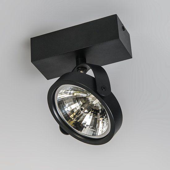 Qazqa Go 1 Opbouwspot 1 Lichts 14 7 Cm Zwart Plafondverlichting Verlichting Lampen Plafond