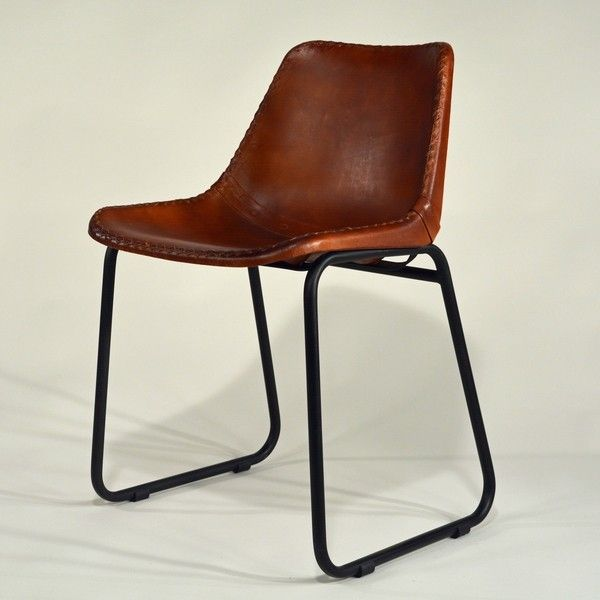 Industrial Stuhl Leder Metall Industrial Vintage Chairs