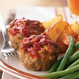 Diner Meat Loaf 'Muffins' | MyRecipes.com