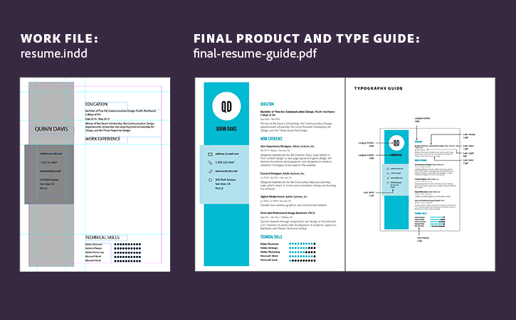 Attractive Learn How To Build A Resume In InDesign With This Tutorial, Template, And  PDF Guide.  Resume In Indesign