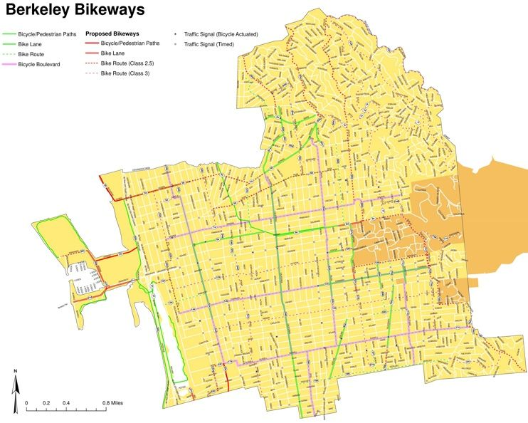 Berkeley bike map   Maps   Pinterest   Usa cities and City
