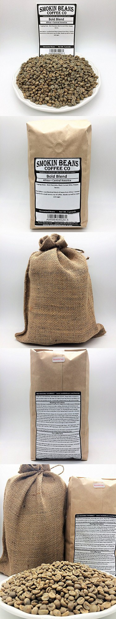 5 Lbs Signature Bold Blend In A Burlap Bag Includes Coffee Beans From Africa